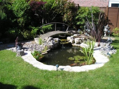 Cultiv 8 tree garden services water features ponds for Garden ponds uk